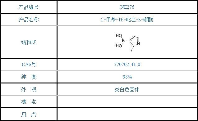 1-甲基-1H-吡唑-5-硼酸(720702-41-0)